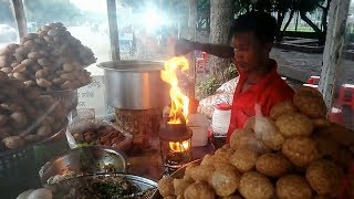 Highway roadside Popular street food Fuchka/Golgappa/pani puri @ Tk 30, Eating Special Street Food