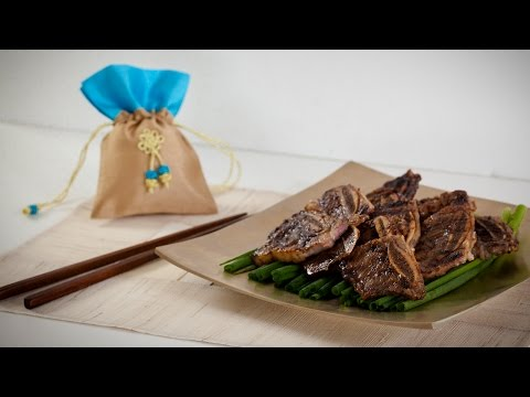Korean Beef Short Ribs (Galbi) Recipe - Korean Series video 2 - CookingWithAlia - Episode 374 - UCB8yzUOYzM30kGjwc97_Fvw