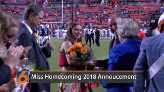 Sadie Argo announced as the 2018 Auburn University Miss Homecoming.