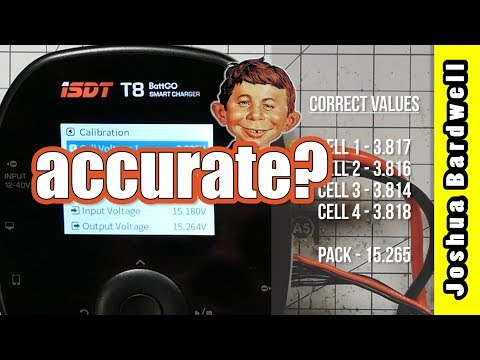 HOW ACCURATE ARE ISDT CHARGERS | KKmoon AD584 voltage reference and AN8008 multimeter - UCX3eufnI7A2I7IkKHZn8KSQ