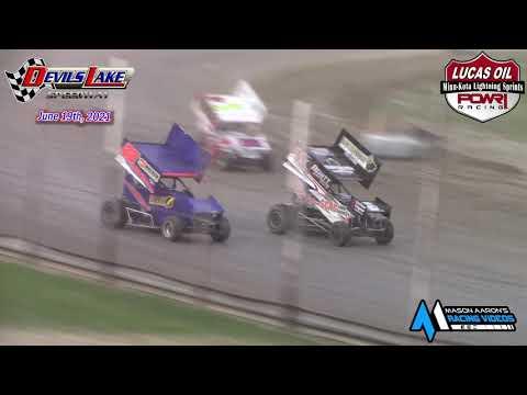 Devils Lake Speedway Minn-Kota Lightning Sprint Races (6/19/21) - dirt track racing video image