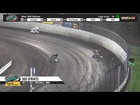 Knoxville Raceway 360 Highlights - July 17, 2021 - dirt track racing video image