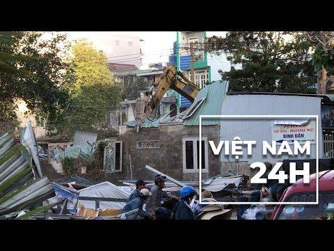 Việt Nam 24 Giờ 21/1/2019: Cưỡng chế vườn rau LH xong, nhà cầm quyền đóng cọc phân lô đất.