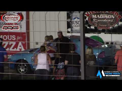 Madison Speedway WISSOTA Hornet Races (7/24/21) - dirt track racing video image