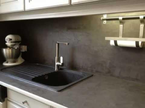 plan de travail b ton min ral. Black Bedroom Furniture Sets. Home Design Ideas
