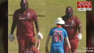 Watch- Deepak Chahar funnily evades hulk-like Rahkeem Cornwall during India A versus Windies A match
