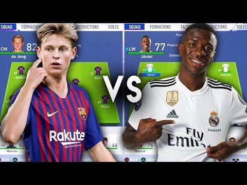 Future Barcelona Team VS Future Real Madrid Team - FIFA 19 Experiment