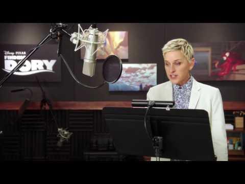 """Finding Dory: Ellen Degeneres """"Dory"""" Behind the Scenes Voice Acting - default"""