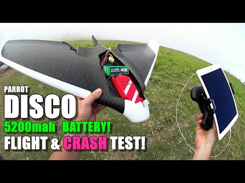 PARROT DISCO Review - Part 5 - [5200mah High Capacity Battery Cloud Flight & Crash Test] - UCVQWy-DTLpRqnuA17WZkjRQ