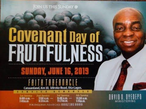 DOMI STREAM: COVENANT DAY OF FRUITFULNESS  16TH JUNE 2019