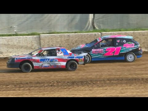 Kids Mini Stock Feature | Bradford Speedway | 8-15-21 - dirt track racing video image