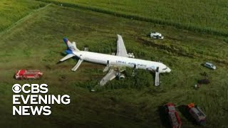 Russian jet passengers survive emergency landing in cornfield