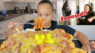 CHEESY CHILI CHEESE FRIES MUKBANG + REACTION TO BROOKE HOUTS ABUSING HER DOG!