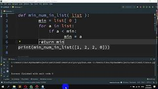 How to Get the smallest number from a list in Python