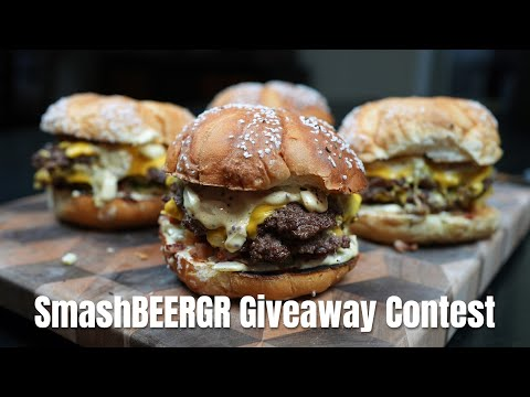 Ultimate SmashBeergr Giveaway Contest! 1 winner(s) will receive the Pit Boss Tabletop Griddle, the MannKitchen Professional Grade Stainless Steel Spatula & the Backyard Life Gear Burger Smasher Giveaway Image
