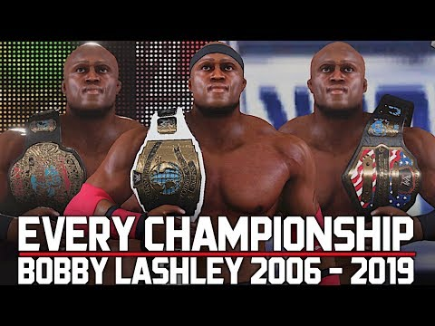 Wwe 2k19 Every Title Bobby Lashley Has Won In Wwe 2006 2019
