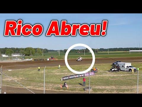 Rico Abreu 410 Sprint Car Qualifying at Waynesfield Raceway Park! (Ohio Speedweek) - dirt track racing video image