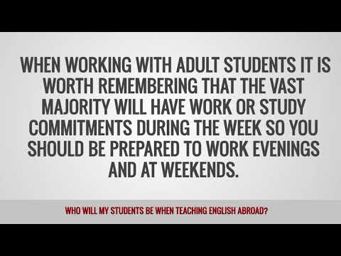 video on what students you will teach abroad