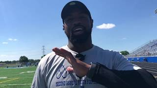 Tyvis Powell helps out at Joshua Perry's football camp, still pursuing NFL career