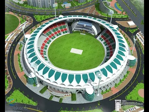 Second biggest stadium Ekana International Cricket Stadium Lucknow outer view