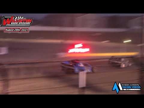 Williston Basin Speedway IMCA Sport Mod A-Main (8/28/21) - dirt track racing video image