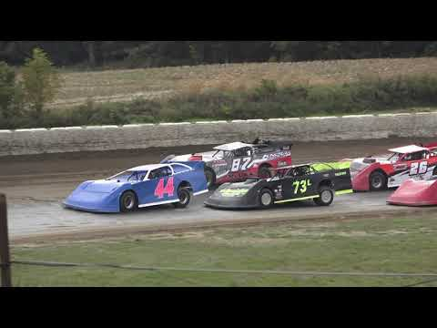 Late Model A-Feature at Mid Michigan Raceway Park, Michigan, on 10-02-2021!! - dirt track racing video image