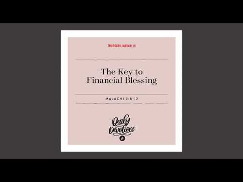 The Key to Financial Blessing - Daily Devotional