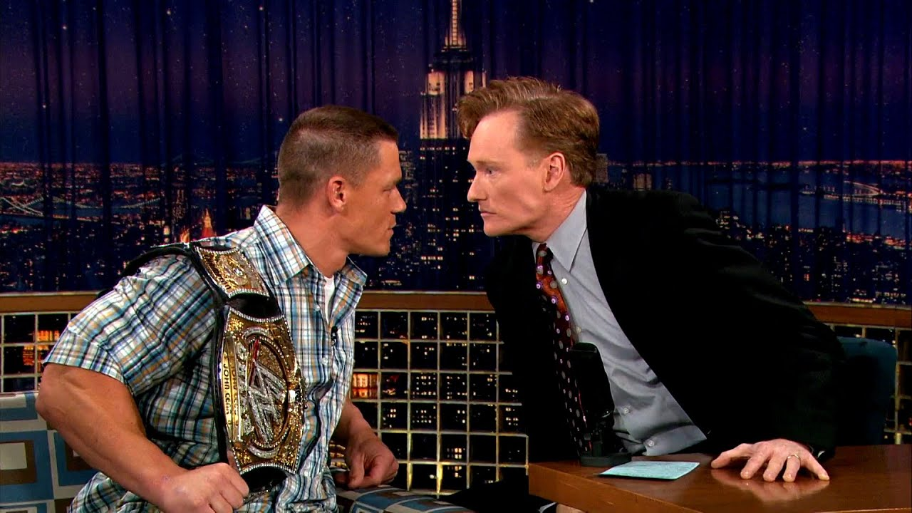 "John Cena & Conan Have A Stare Down – ""Late Night With Conan O'Brien"""