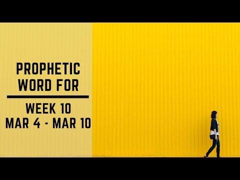 Prophetic Word for week 10 2019
