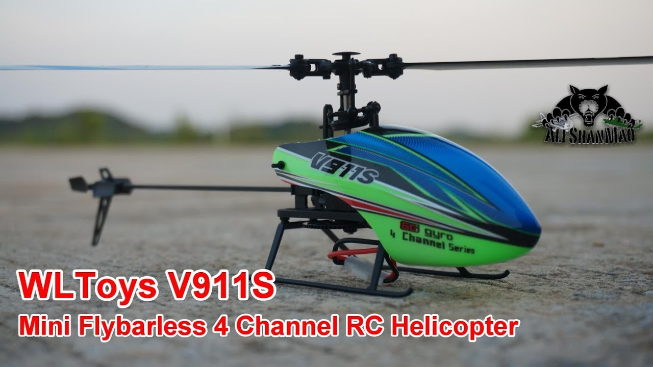 WLtoys V911S 2 4G 4CH 6-Aixs Gyro Flybarless RC Helicopter