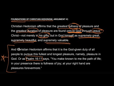 Foundations of Christian Hedonism // Part 2 // God Demands Our Delight