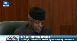 Osinbajo Cautions Governors Against Inciting Comments