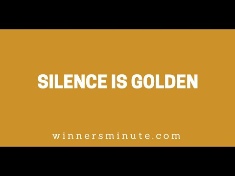 Silence Is Golden // The Winner's Minute With Mac Hammond