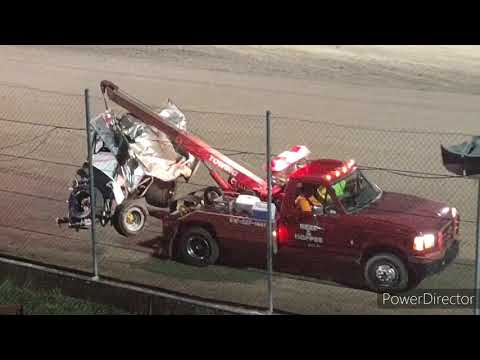 Great Lakes Super Sprints B-Main - I-96 Speedway - 9-3-2021 - dirt track racing video image