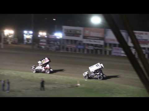 Dominic Scelzi 8-26-16 WoO Main Event River Cities Grand Forks, ND - dirt track racing video image