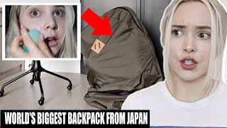 DOING MY MAKEUP INSIDE A GIANT BACKPACK