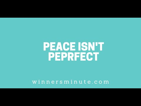 Peace Isnt Perfect // The Winner's Minute With Mac Hammond