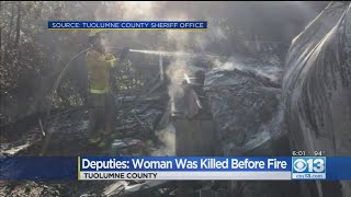 Deputies Say Woman Was Killed Before Fire