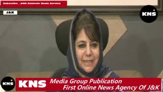 Video: Mehbooba cautions Center not to do away with special status of J&K