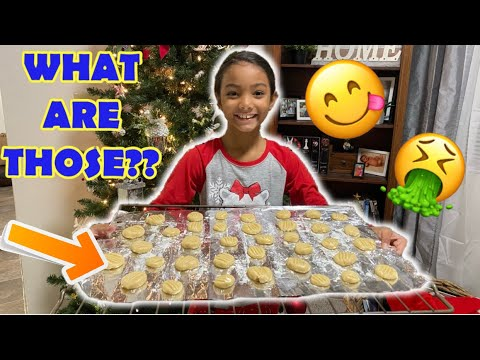 WHAT ARE THOSE??? TIANA'S MYSTERY CHRISTMAS COOKIES *The Nev Fam* Vlogmas