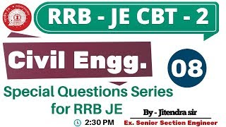 #RRB JE CBT || Special Questions Series for RRB JE  || By Jitendra Sir