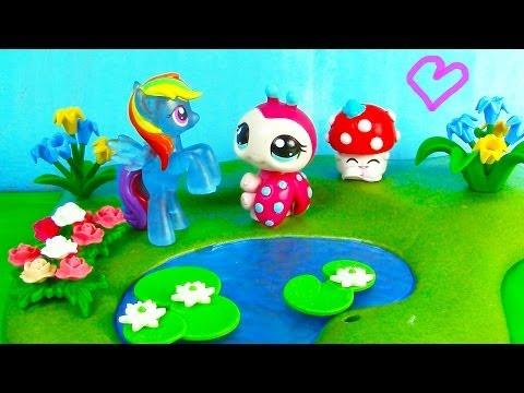 MLP Shopkins Rainbow Dash LPS - Love You Dots - Littlest Pet Shop My Little Pony Play - default
