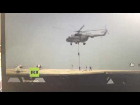 Breaking Iran Military Drill On Cardboard USA Carrier