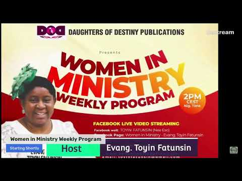 ABIDE IN YOUR CALLING PT 4 (BEARING FRUITS) - WOMEN IN MINISTRY WEEKLY PROGRAM 24/06/21