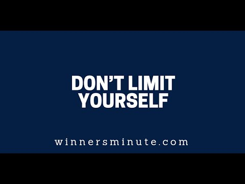 Dont Limit Yourself  The Winner's Minute With Mac Hammond