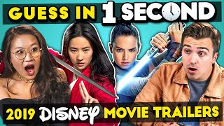 GUESS IN 1 SECOND   2019 DISNEY MOVIE TRAILER CHALLENGE