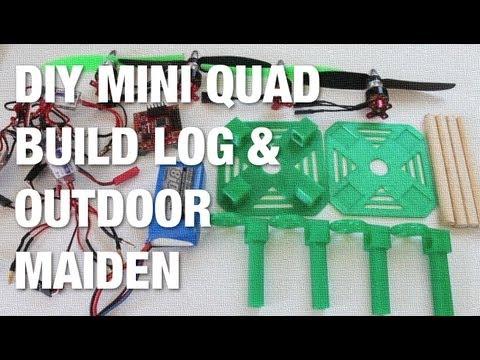 DIY Mini Quad Build Log w/ MakerBot 3D Printed Frame and Outdoor Maiden Flight - UC_LDtFt-RADAdI8zIW_ecbg
