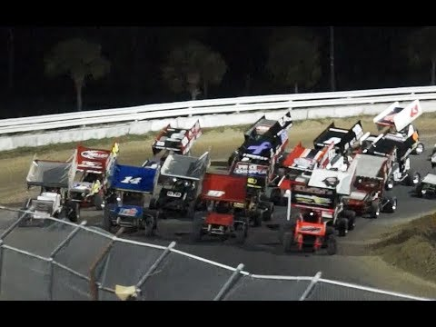 USCS Sprint Cars at BRP, Feature Race, 11-10-2017 - dirt track racing video image