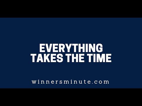 Everything Takes Time  The Winner's Minute With Mac Hammond