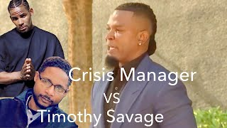 R. KELLY'S CRISIS MANAGER HAS HEATED EXCHANGE WITH TIMOTHY SAVAGE DURING PRESS CONFERENCE